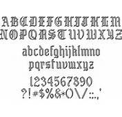 Engravers Old English SE01049