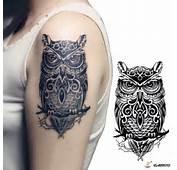 Aliexpresscom Comprar Tatuajes Temporales Gran Buho Negro Tatuaje