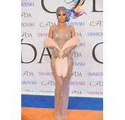 MissInfotv » Rihanna Sizzles In Shimmering See Through Dress At 2014