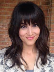 layered hairstyles for curly hair on bangs short