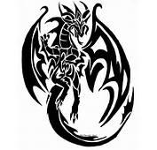 Tribal Dragon Head Designs Tattoo