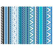Free Blue Aztec Geometric Seamless Vector Pattern  Download