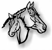 On Pinterest Horse Head Silhouette And Black White Design