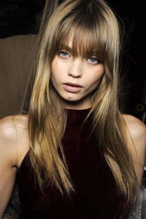 red hair long straight styles 04 bangs with
