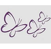 Tattoo Styling Aufkleber 3 Schmetterlinge Set Pink41 Amazonde