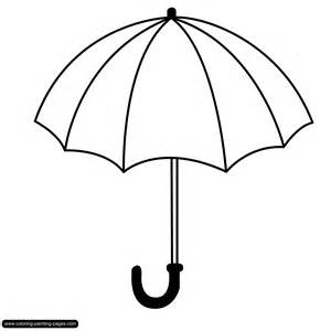 umbrella Colouring Pages