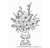 Realistic Flower Coloring Pages 03