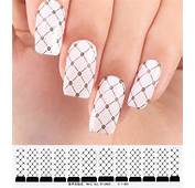 Nail Art Sticker Set Design Tattoo Nagellack Nagel Folie Rosen Weiss