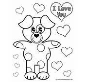 This Puppy Love Coloring Page Right Click And Choose Print Picture