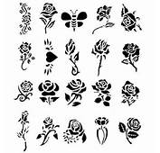 Beautiful Rose Design Great For Airbrush Or Glitter Tattoo Kits Fun