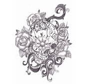 Ideas Para Tu Tattoo Calavera Mejicana Entre Rosas