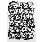 Graffiti Alphabet Letter 1 Hard 9392