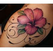 Flower Shoulder Polynesian Hawaiian Tattoo Tattoos