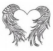 Heart Wings Tattoos On Fullbody Wing Tattoo Design