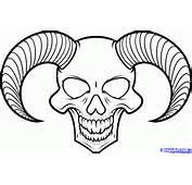 How To Draw A Devil Skull Tattoo Step By Skulls