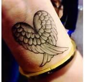 Heart &amp Wings Wrist Tattoo  IFLTattoos