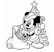 Here Is Mickey Mouse Dressed As Santa Claus And All Ready To
