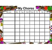 Free Printable Candy Chore Chart For Kids