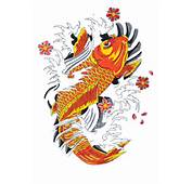 Koi Fish Tattoo Drawings