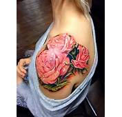 Flower Tattoo On Shoulder For Women  Designs Picture Gallery