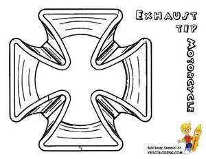 Motorcycle colouring page of motorcycle Exhaust Tip