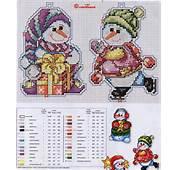 Christmas Tree Ornament Crafts Snowman Cross Stitch Kits Make Handmade