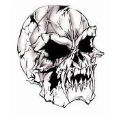 Devilish Evil Skull By Darkeners Fan Art Traditional Drawings