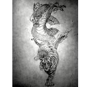 Dragon And Tiger By UnbrokenShadow