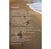 Footprints In The Sand Poem Shadow Forest