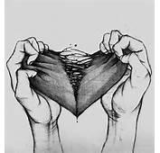 Art Black And White Sad Cool Creepy Heart Depressing Broken