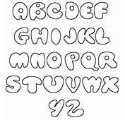 Fonts Alphabet Printable Bubble A Z Graffiti Letters
