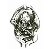 Grim Reaper Fake Tattoo Pictures To Pin On Pinterest