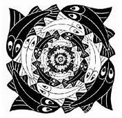 Escher Tessellations Fish Circular M C