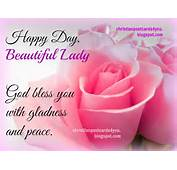 Happy Day Beautiful Lady God Bless You  Free Christian Cards