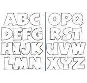 Moldes De Letras Del Abecedario Grandes Para Imprimir Las Pictures