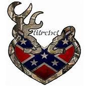 Browning Heart Rebel Flag