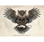 Designed This Owl Chest Piece Tattoo For Gerben Geeraerts Copyright