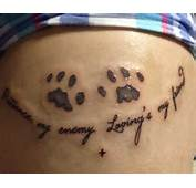 Paw Print Tattoos Designs Ideas And Meaning  For You