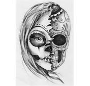 Pin Up Girl Tattoo Stencil