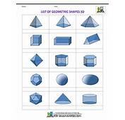 Shapes List Of Geometric 3d Blank