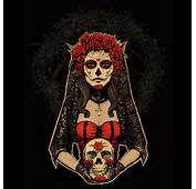 Day Of The Dead Lady In Red By Design Humans On DeviantArt