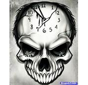 How To Draw A Time Tattoo Step By Skulls Pop Culture FREE