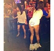 Kentucky Fan Shows Of Wildcats Panties In Middle Bar