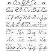 Writing Cursive Letters EnchantedLearningcom