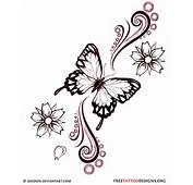 Butterfly And Flowers Tattoo Design  How Do It