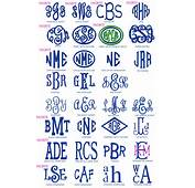 Free Monogram Fonts Initials Letters