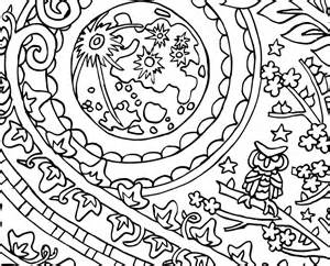 Yin Yang Moon and Sun - CandyHippie Coloring Pages