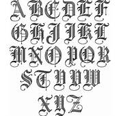 Old English Initial Font Set SE01051