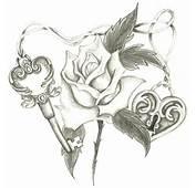 Heart Lock Skeleton Key Rose By Holliewood1391 On DeviantArt