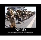 Military Humor Funny Joke Soldier Gun Nerd Marine Bring Your Laptop